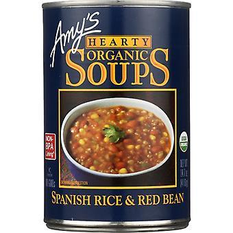 Amys Soup Spnsh Rice&Red Bean, Case of 12 X 14.7 Oz