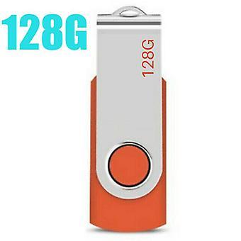 (Oranje-128 GB) USB Flash Memory Drive 2.0 High Speed Stick Pen Thumb Data Storage voor desktop