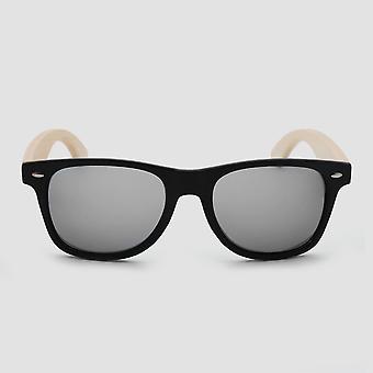 Eco friendly unisex wooden sunglasses black/tan