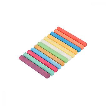 Coloured Chalk, 12pcs Dustless Chal For Child Blackboard Drawing Learning School
