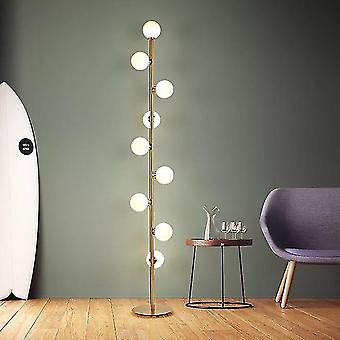 Moderne Led Living / Soveværelse Room Standing - Glas Ball Nordic Floor Lamper