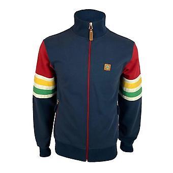 Trojan 'Marley' Stripe Sleeve Track Top TR/8626 - Navy