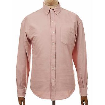 Färgglad standard organisk knapp ner skjorta - blekt rosa