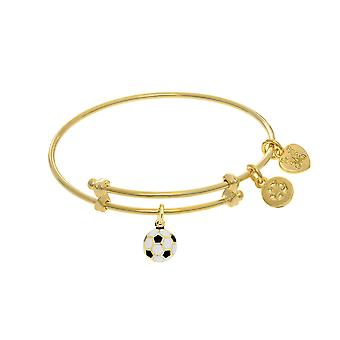 Soccer Ball Enamel Charm Adjustable Bangle Girls Bracelet
