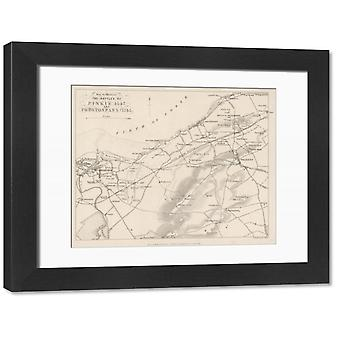 Battle of Pinkie/Plan. Large Framed Photo. A plan of the Battle of Pinkie where thousands of.