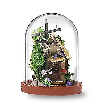 Dollhouse accessories cutebee diy house wooden doll houses miniature dollhouse furniture kit with led toys for children