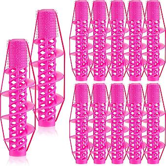 12 Pieces Spiral Curling Hair Rollers Salon Hairdressing Curlers