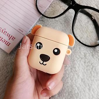 Schattige cartoon 3d siliconen oortelefoon hoesjes voor airpods 1 2 (Goldendog)