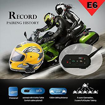 Ejeas-e6 1200m Мотоцикл Bluetooth Шлем Интерком Беспроводной Домофон