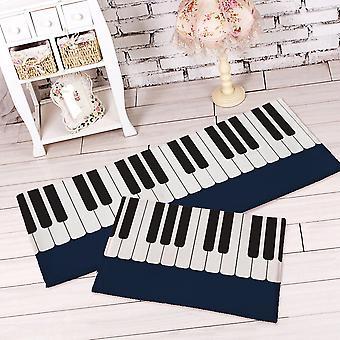 Piano Tapis Chambre Chevet Salon Noir et Blanc Piano Enfants Pad Tapis