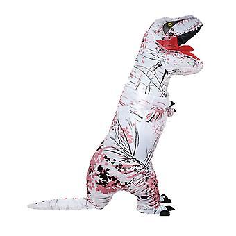 Fehér Tyrannosaurus (felnőtt) Halloween Cosplay Tyrannosaurus Rex felfújható jelmez dinoszaurusz jelmez
