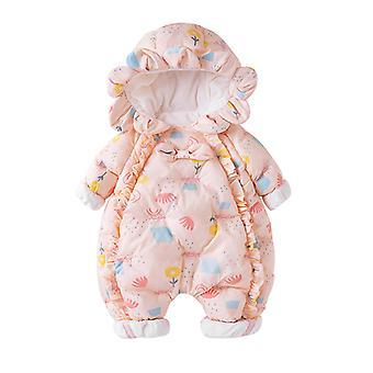 בגדי תינוקות של בנות חורף ילדים מרופד כותנה בגדים Romper בייבי אוברווי