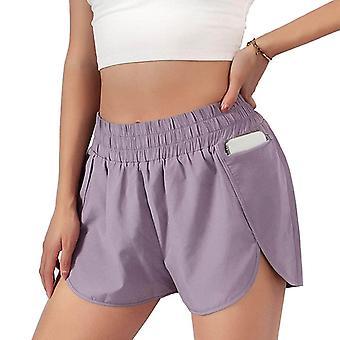 Women's Summer Loose Pocket 2 In 1yoga Shorts Sweatpants Shorts