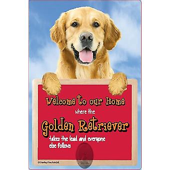 Scottish Collectables Golden Retriever 3D Lead Hanger Wall Plaque