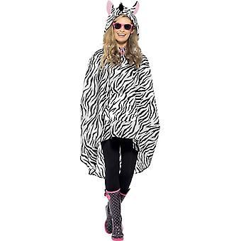 Zebra Kostým strana Poncho Zebra Poncho dážď bunda festival kostým
