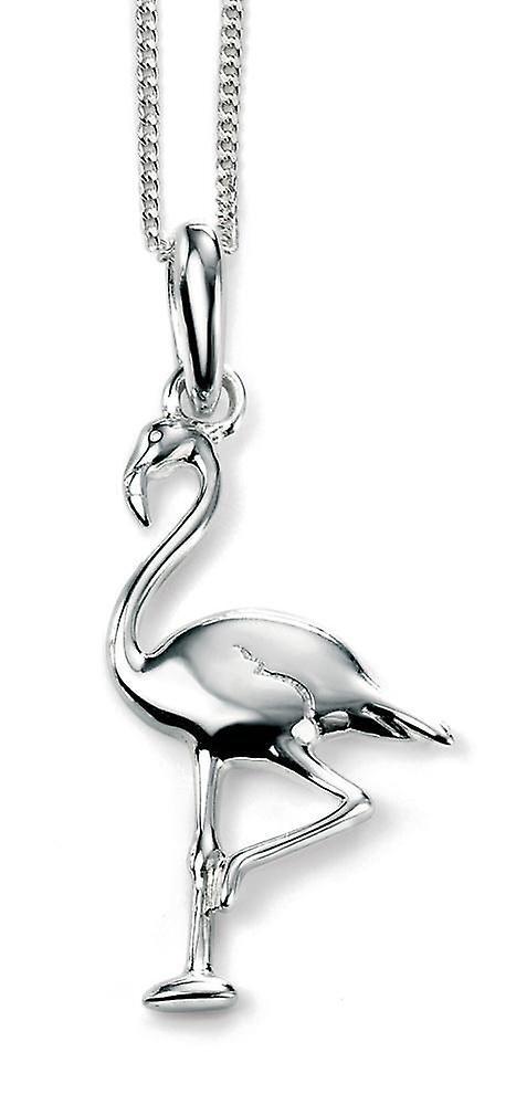 925 Silver Necklace Flamingo