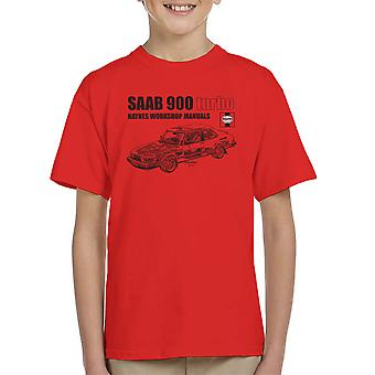 Haynes Workshop Manual 0765 Saab 900 Turbo Black Kid's T-Shirt