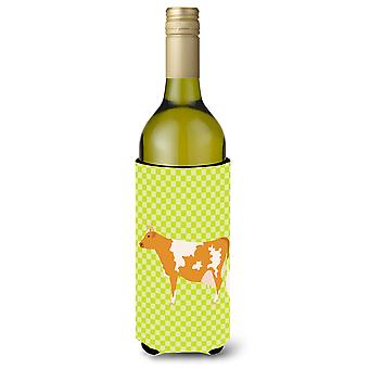 Guernsey Cow  Green Wine Bottle Beverge Insulator Hugger