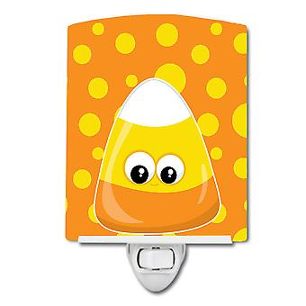 Carolines Treasures  BB8791CNL Halloween Candy Corn Ceramic Night Light