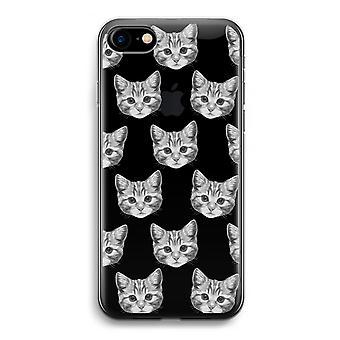 iPhone 7 transparante Case (Soft) - Kitten