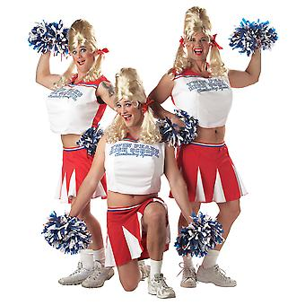 Varsity Cheerleader Sport Football Humour Funny Mens Costume One Size