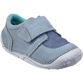 Hush Puppies Boys Leo Toddler Soft Leather Adjustable PreWalkers Shoes