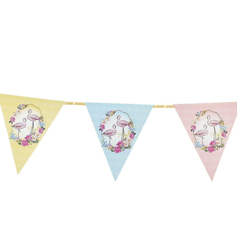 Flamingo Floral Paper Bunting - 3m - Party / Wedding / Home Decoration