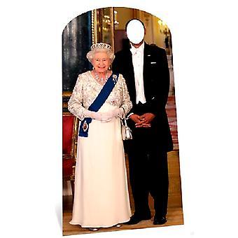 De koningin Stand-in karton gestanst