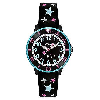 s.Oliver silicone band watch kids SO-3406-PQ