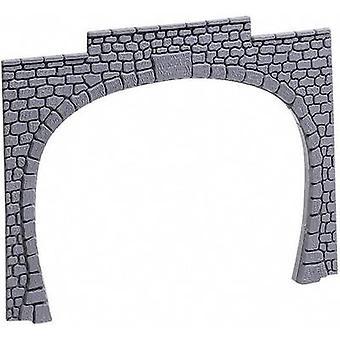 60020 H0 tunnel portaal 2-sporen kunststof