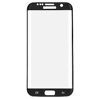 Protetor de tela de filme 3D vidro blindado Samsung Galaxy S7 cobre caso preto