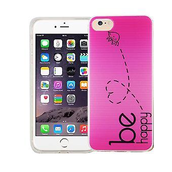 Matkapuhelin Apple iPhone 8 kansi tapauksessa suojapussin motiivi slim silicone TPU on onnellinen vaaleanpunainen