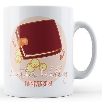 Leather Wedding Anniversary (3rd) - Printed Mug