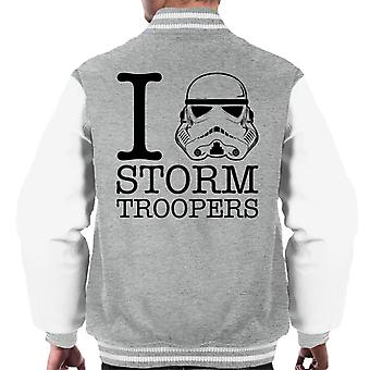 Original Stormtrooper I Heart Troopers Men's Varsity Jacket
