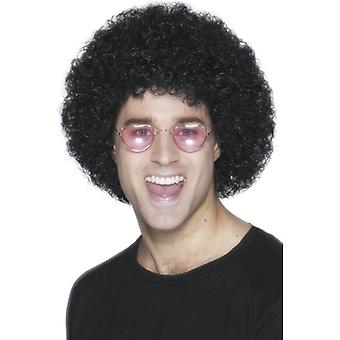 Smiffy's Short Black Afro Wig Afro Wig Economy Fancy Dress Accessory