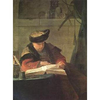Le Souffleur, Jean Baptiste Simeon Chardin, 50x40cm