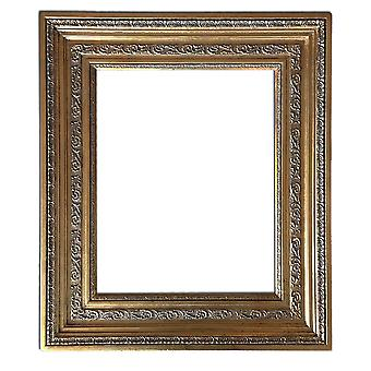 Inner dimensions 40x50 cm or 16x20 inch, wooden frame in gold