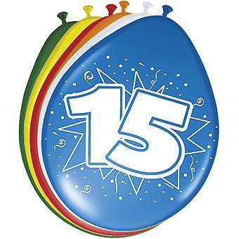 Farverige balloner ballon antal 15 8 St. dekoration balloner fødselsdagsfest