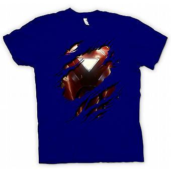 Mens T-shirt - Iron Man 2 Triangle Arc - Superhero Ripped Design