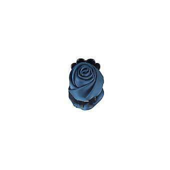 Lovemystyle Teal bleu soie Rose fermoir barrette