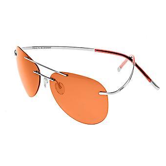 Luna de race Polarized lunettes de soleil - Gunmetal/rouge-jaune