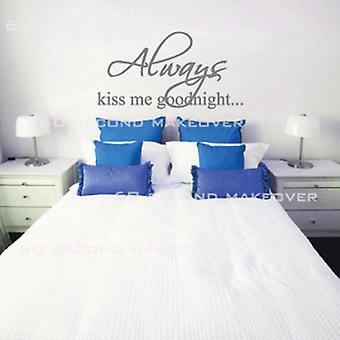 قبله لي دائماً ملصق حائط غرفة نوم قبل النوم