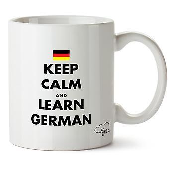 Hippowarehouse garder son sang-froid et apprendre allemand imprimé Mug tasse céramique 10oz