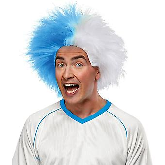 Wig For Sports Fun Light Blue Whit