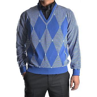 Ballantyne Ezbc099006 Men's Blue Cashmere Sweater