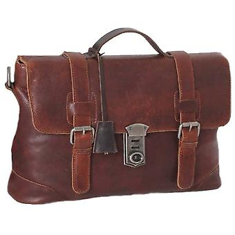 Ashwood Leather Stratford hiottu VT Medium Nahka Satchel-Tan