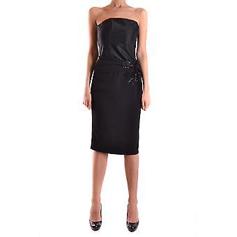 Frankie Morello Ezbc167038 Women's Black Polyester Dress