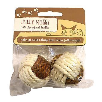 Jolly Moggy Catnip Sisal Balls (Pack Of 2)