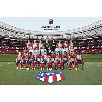 Atletico Madrid FC Squad Poster