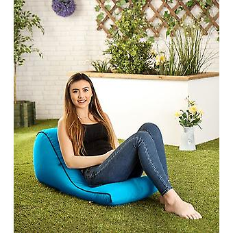 Turquoise 'Kai' Water Resistant Outdoor Bean Bag Wedge Lounger Backpack